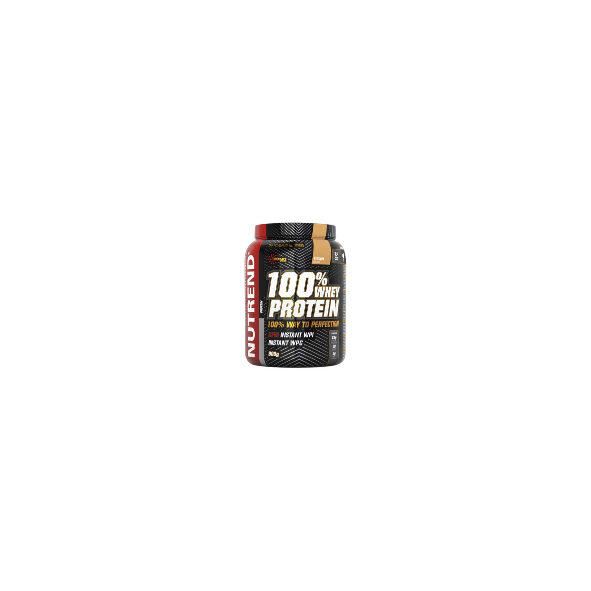 Nutrend 100 Whey Protein 900g biscuit, vel. none